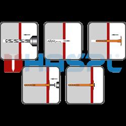 Hmoždinka talířová s polyamidovým trnem TTH, 10/60x140mm, polypropylen - 2