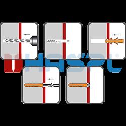 Hmoždinka UPA-L standard s lemem 12x60mm nylon - 2
