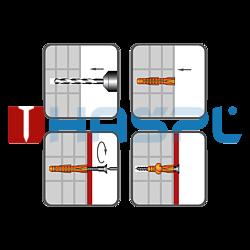 Hmoždinka uzlovací s lemem UHL 6x38mm, polyethylen - 2