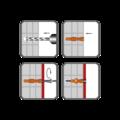 Hmoždinka uzlovací s lemem UHL 6x38mm, polyethylen - 2/2