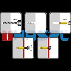 Kotva rozpínací mosazná KMS 8x24, M6 - 2