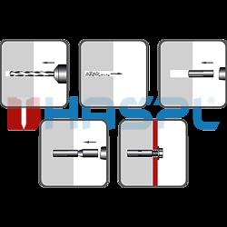 Kotva narážecí ocelová KNO 12x40, M10 ZB - 2