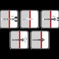 Kotva průvlaková LSB M8x80 ZB - 2/2