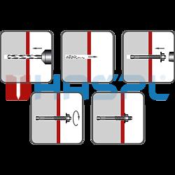 Kotva průvlaková LSB M8x100 ZB - 2