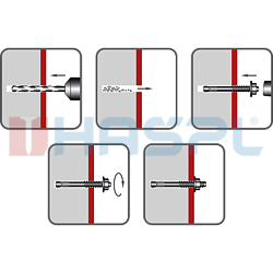 Kotva průvlaková LSB M12x180 ZB - 2