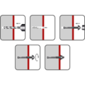 Kotva průvlaková LSB M12x180 ZB - 2/2