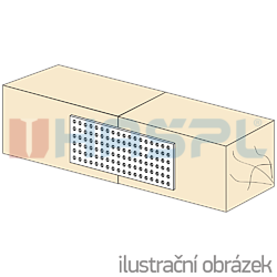 Děrovaná styčníková deska 80x120x2,0 - 2
