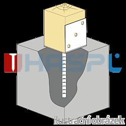 Patka kotevní do betonu Typ L 100x80x4,0 - 2