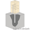 Patka kotevní do betonu Typ T 90x90x4,0 - 2/3