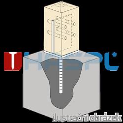 Patka kotevní do betonu Typ T 70x70x4,0 - 2