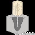 Patka kotevní do betonu Typ T 70x70x4,0 - 2/3