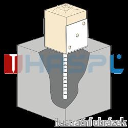 Patka kotevní do betonu Typ U 60x60x4,0 - 2