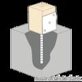 Patka kotevní do betonu Typ U 60x60x4,0 - 2/3