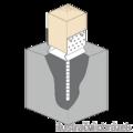 Patka kotevní do betonu Typ U 100x100x4,0 s prolisem - 2/3
