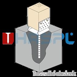 Patka kotevní do betonu Typ U 120x120x4,0 s prolisem - 2