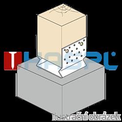 Kotevní prvek Typ U 100x100x4,0 s prolisem - 2