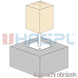 Patka pilíře 80x80x330x4,0 M24 - 2