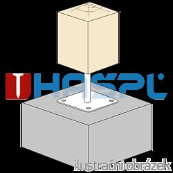 Patka pilíře 80x80x160x4,0 M16 - 2