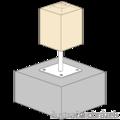 Patka pilíře 80x80x160x4,0 M16 - 2/3
