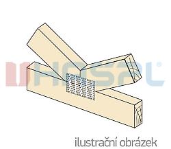 Styčníková deska s hroty 126x252x1,5 - 2