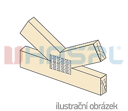 Styčníková deska s hroty 54x195x1,0 - 2