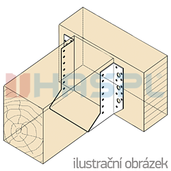 Trámová botka - třmen Typ1 80x140x2,0 - 2