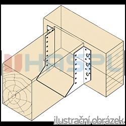 Trámová botka - třmen Typ1 160x160x2,0 - 2