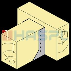 Trámová botka - třmen Typ2 80x100x2,0 - 2