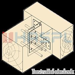 Trámová spojka skrytá Typ1 110x115x2,5 - 2