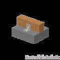 Úhelník 90° Typ4 Prolis 90x105x105x3,0 drážka - 2/3