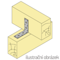 Úhelník 90° Typ6 40x70x70x3,0 - 2/3