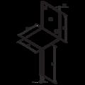 Patka kotevní do betonu Typ L 80x80x4,0 - 3/3