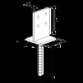 Patka kotevní do betonu Typ T 90x90x4,0 - 3/3