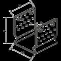 Kotevní prvek Typ U 60x60x4,0 s prolisem - 3/3