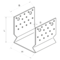 Kotevní prvek Typ U 100x80x4,0 s prolisem - 3/3