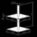 Patka pilíře 80x80x160x4,0 M16 - 3/3