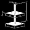 Patka pilíře 80x80x250x4,0 M24 volná matka - 3/3