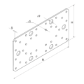 Spojovací deska 55x140x2,0 - 3/3